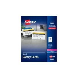 Avery® Rotary Cards - Uncoated - 2-Sided Printing