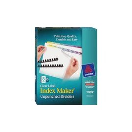 Avery® Index Maker Print & Apply Clear Label Dividers with Contemporary Color Tabs
