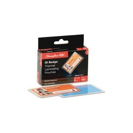 GBC Ultra Clear ID Badge Thermal Laminating Pouches