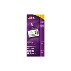 Avery® Heavy-Duty Badge Holders - Secure Top - Clip Style