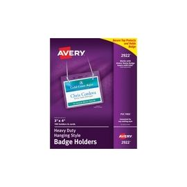 Avery® Heavy-duty Secure Top Badge Holders - Hanging Style