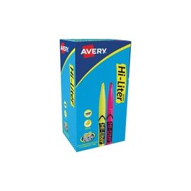 Avery® Hi-Liter Pen-Style Highlighters - SmearSafe