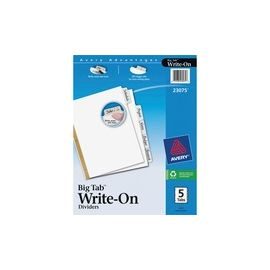 Avery® Big Tab Write & Erase Dividers