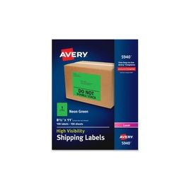 Avery® High-Visibility Shipping Labels - Full Sheet