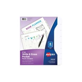 Avery® Write & Erase Durable Dividers with Pockets
