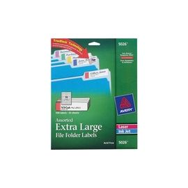 Avery® Extra-Large File Folder Labels - TrueBlock - Sure Feed