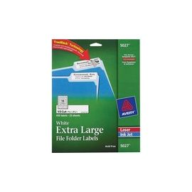 Avery® TrueBlock Extra-Large File Folder Labels - Sure Feed