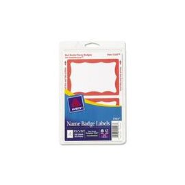 Avery® Name Badge Labels - Red Border