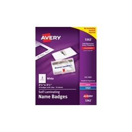 Avery® 5362 Laser/Inkjet Badge Insert