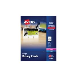 Avery® Large Rotary Cards - Uncoated - 2-Sided Printing