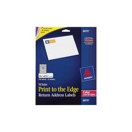 Avery® Return Address Labels - Sure Feed - Print to the Edge