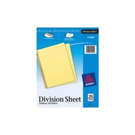 Avery® Division Sheets