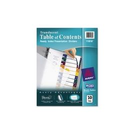 Avery® Ready Index Translucent Dividers - Customizable Table of Contents