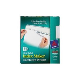 Avery® Index Maker Print & Apply Clear Label Plastic Dividers