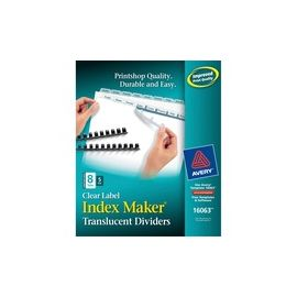 Avery® Index Maker Print & Apply Clear Label Plastic Dividers - Unpunched