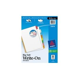 Avery® Big Tab Write & Erase Dividers - Reinforced Gold Edge