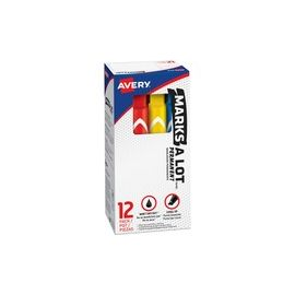 Avery® Large Marks A Lot Desk-style Permanent Markers