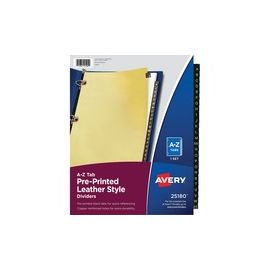 Avery® Preprinted Tab Dividers - Copper-Reinforced Holes