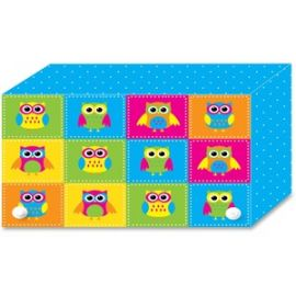 Colorful Owls Index Card Holder