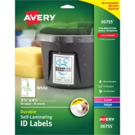 Easy Align Self-Laminating ID Labels
