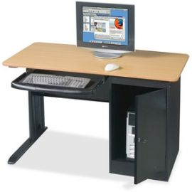 Locking Computer Workstation
