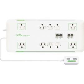 Slim 10-Outlet Surge Block Protector