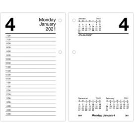 At-A-Glance Daily Desk Calendar Refill with Tabs