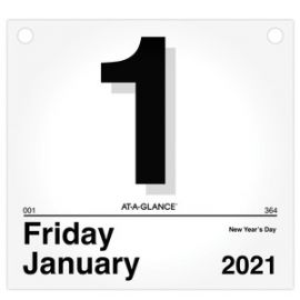 """At-A-Glance """"Today Is"""" Daily Wall Calendar Refill"""
