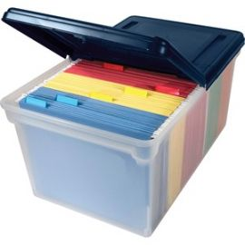 Extra-capacity File Tote with Lid