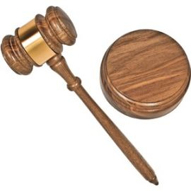 Brass Engraved Gavel Set