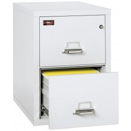 FireKing Fireproof Vertical File Cabinet, 2-2130-2AWEL Electronic Lock, 2 Hour Fire Resistant-Arctic White