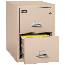 FireKing Fireproof Vertical File Cabinet, 2-2130-2CHEL Electronic Lock, 2 Hour Fire Resistant-Champagne