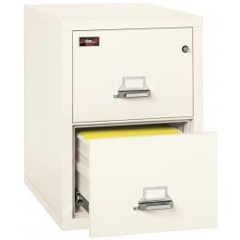 FireKing Fireproof Vertical File Cabinet, 2-2130-2IWEL Electronic Lock, 2 Hour Fire Resistant-Ivory White