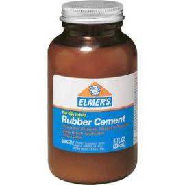 Elmer's ROSS 8 oz Bottle with Brush Rubber Cement