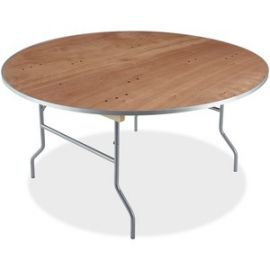 Natural Plywood Round Folding Table