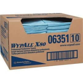 WypAll X80 Blue Foodservice Towels