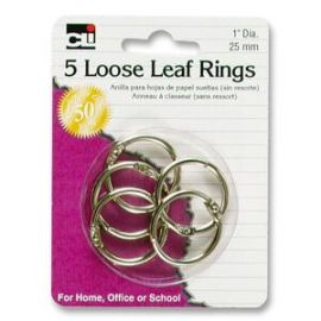 """1"""" Looseleaf Rings"""