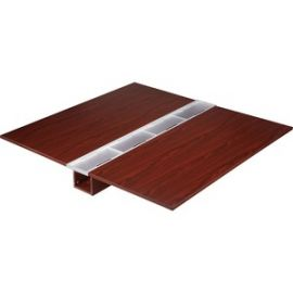 Concordia Series Mahogany Laminate Desk Ensemble