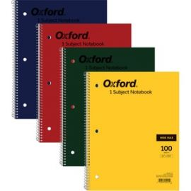 Oxford Bright Primary Color Wirebound Notebook - Letter