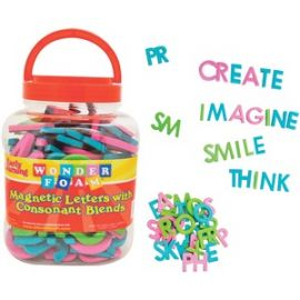 Wonderfoam Consonant Blends Magnetic Letters