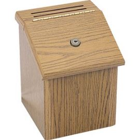 Locking Wood Suggestion Box