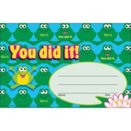 You did it Cheerful Frogs Recognition Awards