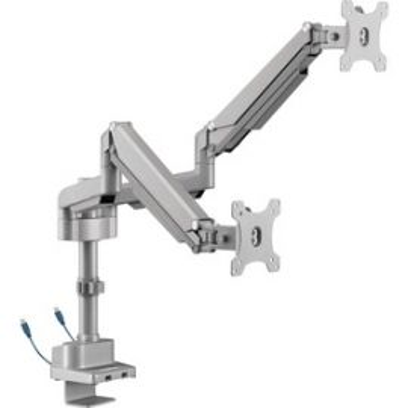 USB Pole Dual Monitor Arm