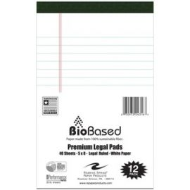 Bio-preferred Jr Legal Pad White 12/PK