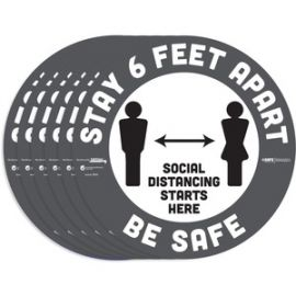 BeSafe STAY 6 FEET APART Floor Decals