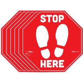 BeSafe STOP HERE Messaging Carpet Decals