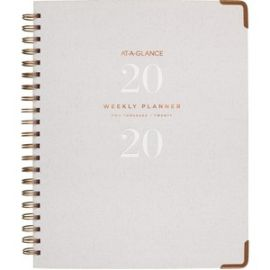 Signature Collection Hardcover Weekly/Monthly Planner, Gray
