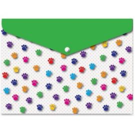 Pawprints Design Snap Poly Folders