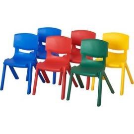 """10"""" Assorted Resin Chair Pack, 6 Piece"""