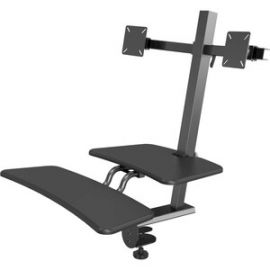 Up-Rite Desk Dual Monitor Mount Sit/Stand Workstation